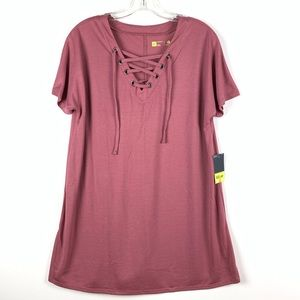 Xersion dark pink tunic shirt tall size